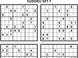 Free Sudoku Puzzles Set 7 By Ratselmeister Teaching Resources