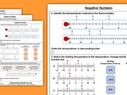Year 5 Negative Numbers Autumn Block 1 Maths Homework Extension