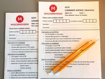 GCSE AQA Chemistry Combined Science Paper 1 2020 PREDICTED PAPER Mark Scheme