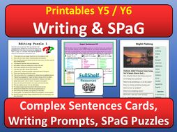 Writing and Grammar Starters or Early Finishers Activities