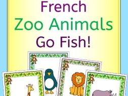 French Au Zoo - Zoo animals Go Fish! Game