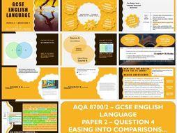 AQA 8700/2 English Language GCSE - Paper 2 - Question 4 Comparing Articles
