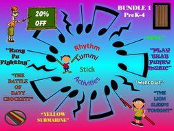BUNDLE: Rhythm Sticks, Any Day Song, PreK-4