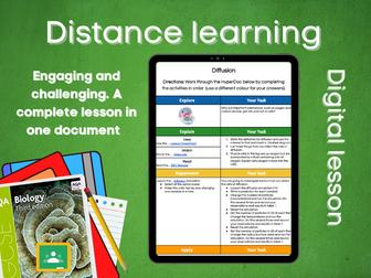 SB1.6 Diffusion Distance learning (AQA GCSE Bio)