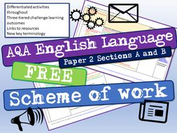 AQA English Language Paper 2 Sections A and B Scheme of Work