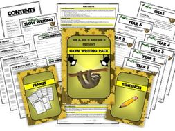 Slow Writing Primary Pack by Mr A, Mr C and Mr D Present