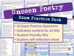 Unseen Poetry Exam Practice Questions