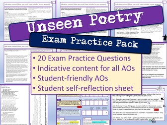 Unseen Poetry Exam Practice Questions