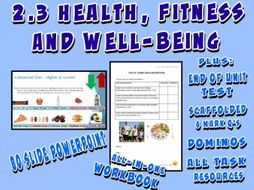 OCR GCSE PE 9-1 (2016) 2.3 - Health, Fitness and Well-being - Unit of Work