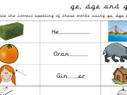 spelling words using dge ge and g by becky boland teaching resources. Black Bedroom Furniture Sets. Home Design Ideas