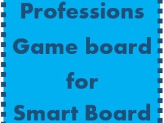 Professions Game board for Smartboard