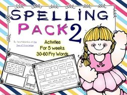Spelling & Writing Activities 5 Weeks Pack 2 {Fry's 30-60 sight words}