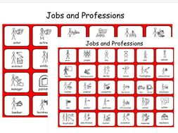 Jobs and Professions - People - Working - 2 Symbol Sheets - SEN and Lower Ability
