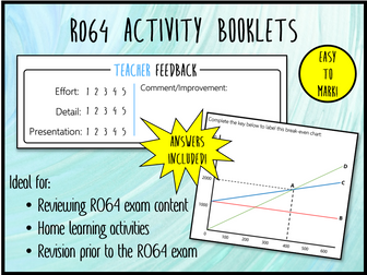 LO2 R064 Activity Booklet - Ideal Homework! (Cambridge National in Enterprise & Marketing)