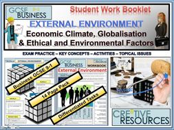 External Environment - Economic Climate Globalisation Ethical and Environmental Factors
