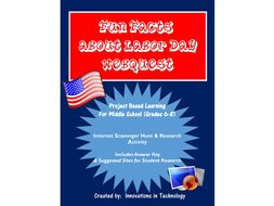Learning about Labor Day - WebQuest / Internet Scavenger Hunt
