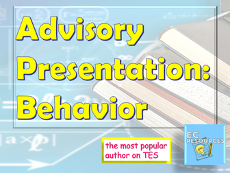 Advisory: Behavior