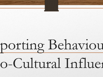 Ethical and socio- cultural issues in physical activity and sport