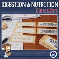 Digestion and Nutrition Vocabulary Card Sort