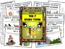FREE - The 7 Story Types Poster Set for KS1 and KS2