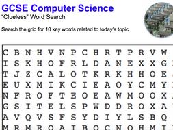 GCSE Computer Science Word Puzzles 12 Topics
