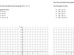 Plotting quadratic graphs and solving