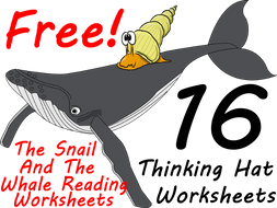FREE The Snail And The Whale workbook - 16 Thinking Hat Worksheets Makes Reading Fun!