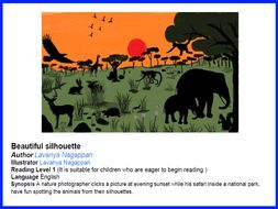 Can you spot it? Beautiful silhouettes of animals (Level 1 reading).