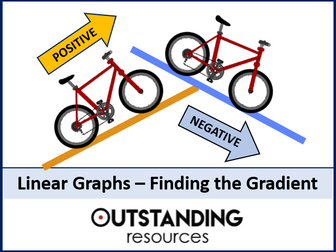 Linear Graphs 3 - Finding the Gradient & Problems involving Coordinates (+ worksheet)