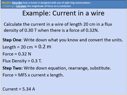 GCSE Physics: Motor Force