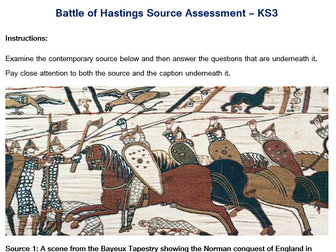 KS3 - Battle of Hastings Source Assessment