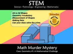 STEM Geometry 1:  A Math Murder Mystery