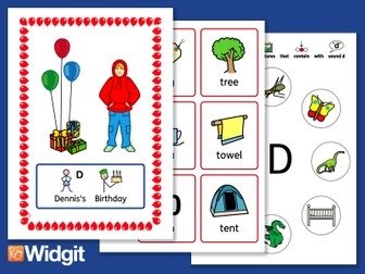 """Sound Stories """"D"""" and """"T"""" - Pack with Widgit Symbols"""