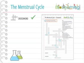 Menstrual Cycle - Crossword (KS3/KS4)