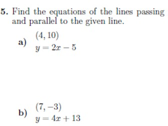 Equation of a straight line worksheet (with solutions)