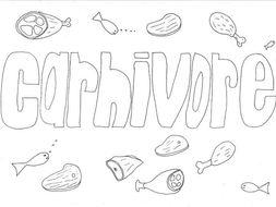 Carnivore Colouring Page
