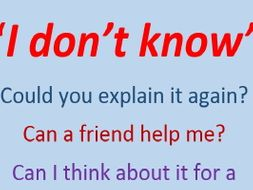 I don't know: Helping Students to Speak - ESL version