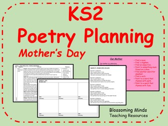 Key Stage 2 Poetry Unit - Mother's Day