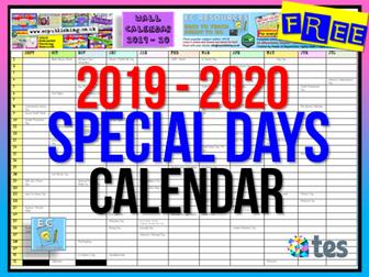Notable Days Calendar