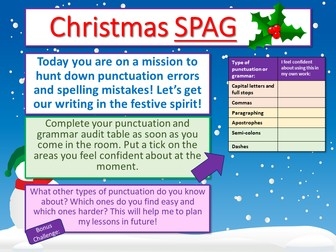 Christmas Punctuation Workshop