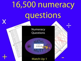 Numeracy Questions : Match Up 1