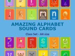 Amazing Alphabet - A4 cards