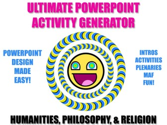 Activity Generator (Humanities/RS/Philosophy) - Design Beautiful PPTs in no time!