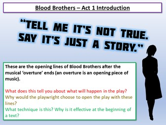 Blood Brothers Act 1 Introduction