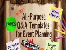 WORKSHOP PLANNER: All-Purpose Q&A Templates for Event Planning *Printable PDF Format