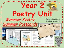 Year 2 Poetry Unit - Summer Holiday Poem
