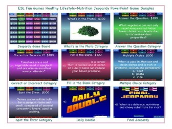 Healthy Lifestyle-Nutrition Jeopardy PowerPoint Game