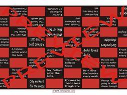 Passive versus Active Voice Checker Board Game