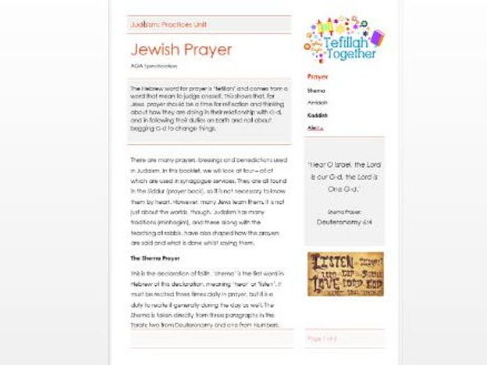 Judaism: Covenants Learning Mat Information Page by joanacarr ...