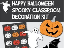 Spooky Halloween Classroom Decoration Kit By Dipagan Teaching